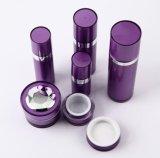 De purpere Set6 Fles Zonder lucht van de Lotion van de Kruik van de Room van pp Acryl voor Kosmetische Verpakking (ppc-cps-046)