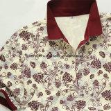 Печатание цветка высокого качества одежды гольфа рубашки пола людей тонкого нежно