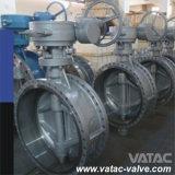 Fabricante excêntrico da válvula de borboleta do dobro do aço de molde de Vatac