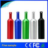 Rotwein-Flaschen-Form-Metall-USB-Blitz-Laufwerk des freies Beispiel2016