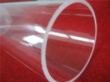 Pipe de quartz de tube en verre de quartz transparent de grand diamètre