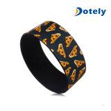 Wristband de goma promocional de Silcone de las pulseras de la impresión amplia