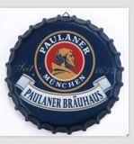 Decorativo Chapa de botella muestra muestras placa del estaño con el logotipo de Miller
