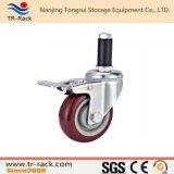 Echador resistente de la rueda de Performa del eslabón giratorio con el freno