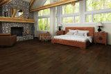 Черным настил дуба цвета Multi проектированный слоем деревянный относящий к окружающей среде естественно и нагретый деревянный пол