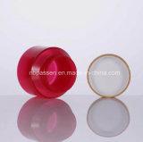 Красный опарник контейнера PP пластичный косметический с Bamboo крышкой (PPC-BS-046)