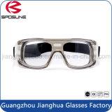オンラインで工場卸し売り粉砕防止布透過Eyewearは視野のゆとりの安全メガネの明快さを非常に組み立てる