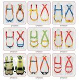 Plein harnais de sûreté de corps avec 4 cordes de point réglable et de sûreté