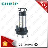 pompa elettrica sommergibile delle acque luride della ventola di taglio dell'acciaio inossidabile 1.5HP