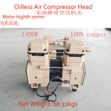 kleiner mini freier Luftverdichter-Kopf des Öl-1400W
