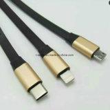 Modelo nuevo 2017 3 en 1 cargador del USB y cable de datos para Iphohne, Samsung, tipo teléfono móvil de C