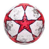 Bille de football faite sur commande en cuir stratifiée imperméable à l'eau brillante d'unité centrale