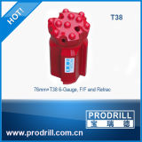 Bits Drilling rosqueados do martelo de T38 T45 T51 banco superior