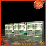 Cabina cosmética de madera del contador de la visualización para el almacén