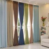 100% poliéster cortina de janela sólida decorativa cortina impermeável