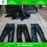 Перекупные одежды, ботинки, оптовая продажа использовали кальсоны Jean в Турции