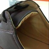 Ботинки обуви комфорта кожаный с шнурком хлопка