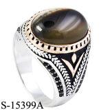 Anel de prata do homem da jóia 925 com pedra