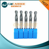 Carbide Ball Nose Square End Mill avec 4 Flûtes