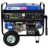 gerador da gasolina 6kw com roda e bateria 12ah