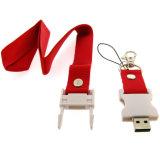 Del precio de la fábrica mecanismo impulsor razonable y aceptable del flash del USB de la correa del cuello del acollador directo