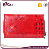 عالة طبعة جلد محفظة فراشة يطبع نساء [جنوين لثر] محفظة