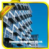 Vidrio Tempered del precio de la fabricación para el edificio