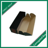 Rectángulo de envío acanalado negro impreso modificado para requisitos particulares