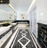 Azulejo de mármol negro con textura de oro
