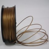 Filament en métal de filament de la matière plastique 3D de filament de PLA d'or pour l'imprimante 3D