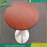 Kundenspezifischer runder Tisch des Woodgrain-Vertrags-HPL für Gaststätte