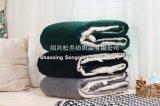 投げ黒いShuのベルベティーン毛布/Sherpaの羊毛が付いている2017 Super-Softベロア