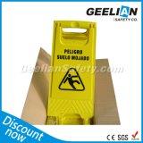 Желтый пластичный высокий предупредительный знак видимости