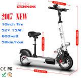 [10ينش] إطار العجلة [500و] [48ف] طيّ ذكيّة درّاجة كهربائيّة [فولدبل]