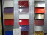 食器棚のドアのための装飾的で多彩で高い光沢のあるPMMA/ABSシート