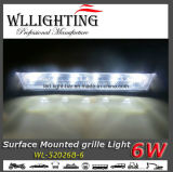 6W Warnigのグリルの表面の台紙LEDs