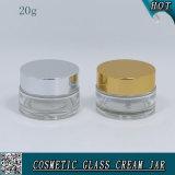 20mlはアルミニウムふたが付いている装飾的なガラスクリーム色の瓶を取り除く