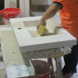 Bacia cerâmica do gabinete do dissipador do gabinete (NALA-80)