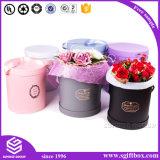 Caixa de empacotamento elegante do círculo de papel da flor de Rosa do presente