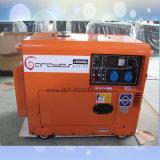 Petit générateur diesel silencieux général électrique insonorisé refroidi à l'air de l'alimentation 5kVA