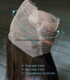 Spitze-Stirnbein des Glücks-Haar-360 drei/frei/mittleres Teil Oberseite-Schweizer Spitze-frontale gerade brasilianische Jungfrau-Menschenhaar-Stirnbein-Stück-