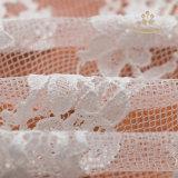 Tessuto francese del merletto del nuovo di arrivo di Chantilly del merletto ricamo del bordo