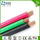 Cable aislado PVC de Thw del conductor del CCA de la fábrica