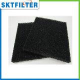 Corpi filtranti del poliestere impregnati di carbonio attivato, nero