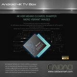 Caidao 4K 텔레비젼 Kodi 17.0 Amlogic S905X 쿼드 코어 Google 인조 인간 6.0 지능적인 텔레비젼 상자, 인조 인간 텔레비젼 상자 2GB+8GB
