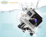 La cámara doble 4k de WiFi de la acción de la pantalla impermeabiliza el mini coche DVR