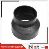 Het zwarte HDPE Materiële Plastic Zonderlinge Reductiemiddel van de Montage van de Waterpijp