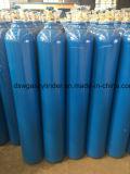 cilindro de gás de alta pressão da indústria da alta qualidade 40liter com válvula e tampão de Qf-2c