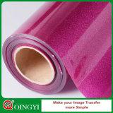 Prezzo basso di Qingyi Factroy e migliore qualità del trasferimento del vinile di calore di scintillio per l'indumento