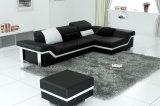 Популярная софа Blakc Италии кожаный для домашней живущий комнаты (HC1061)